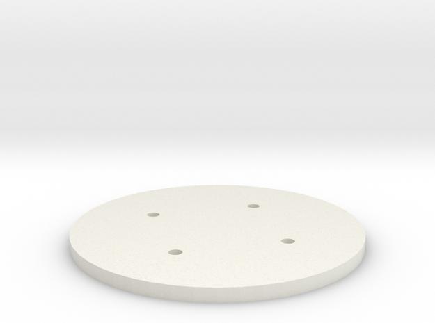 1:6 scale Hasbro HMMWV spare tire hub in White Natural Versatile Plastic