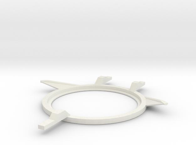 1:6 scale Hasbro HMMWV turret braket in White Natural Versatile Plastic