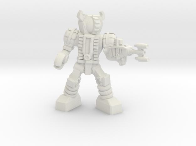 Waruder, Kuwagatrer Trooper, Firing, 35mm Mini in White Natural Versatile Plastic