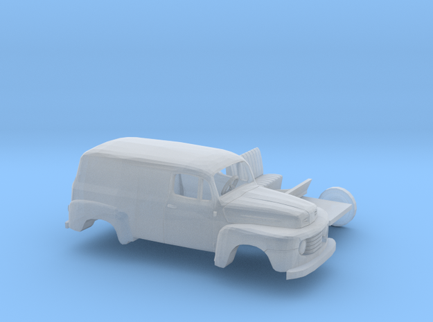 1/87 1948-50 Ford F-1 Panel Truck Two Piece Kit in Frosted Ultra Detail