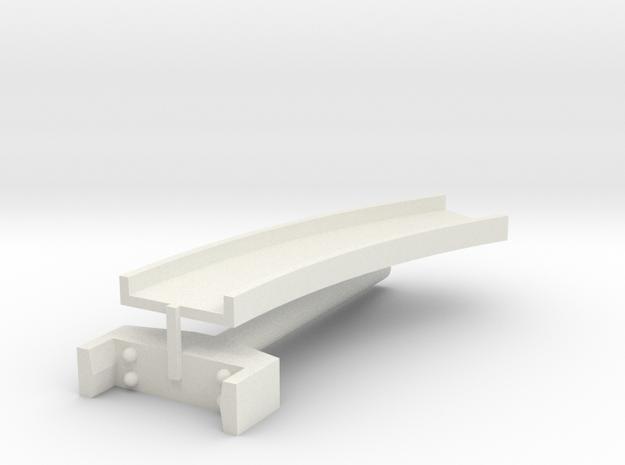 T-gauge curved bridge 120 mm in White Natural Versatile Plastic