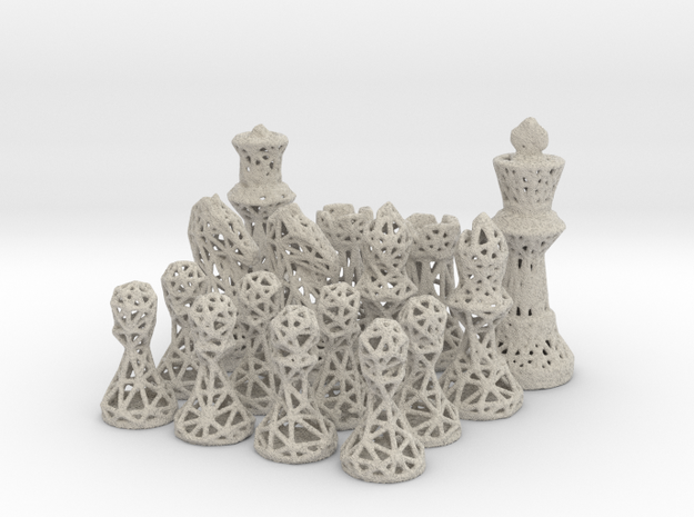 Chess Set Voronoi - Mini