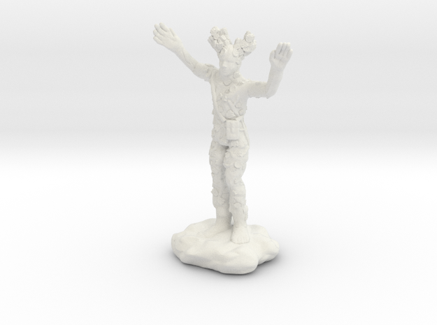 Wilden Warden Greenman Standing Pose in White Strong & Flexible
