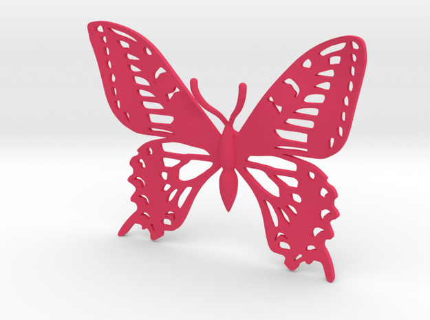 Butterfly Hair Clip in Pink Strong & Flexible Polished