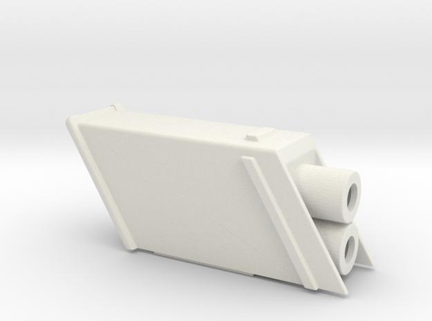 ROTJ Hero Flamethrower Nozzle Housing in White Natural Versatile Plastic