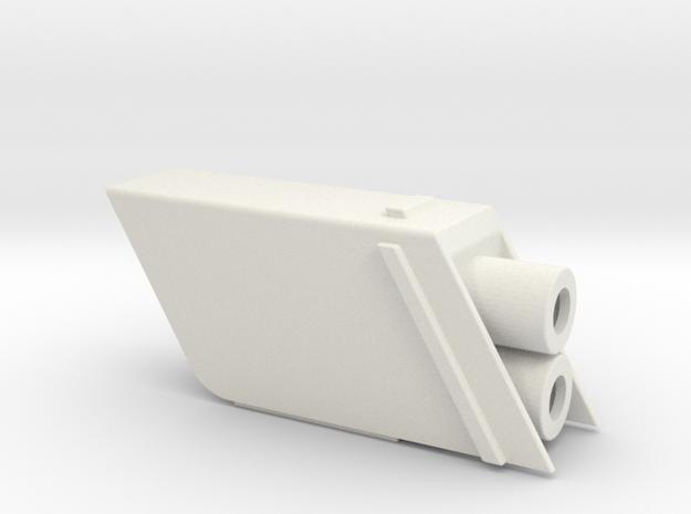 ROTJ SE / ANH SE Flamethrower Nozzle Housing in White Natural Versatile Plastic