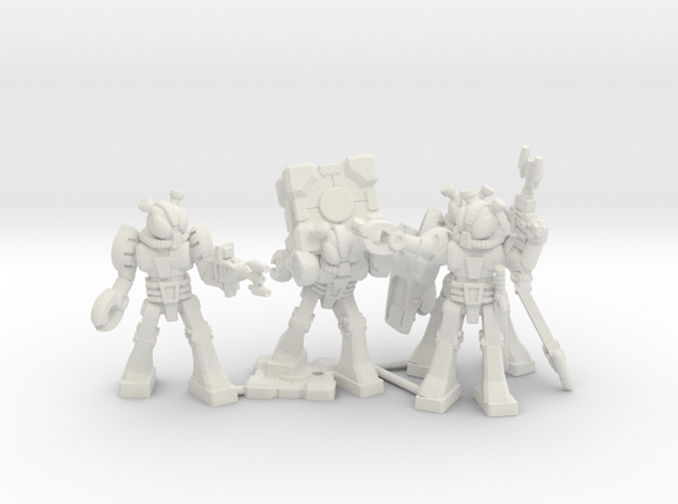 Waruder Kabutron Scavenger Squad, 4 35mm minis in White Natural Versatile Plastic