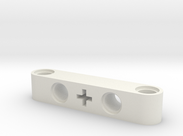 5 Beam Angle Holes And Cross in White Natural Versatile Plastic