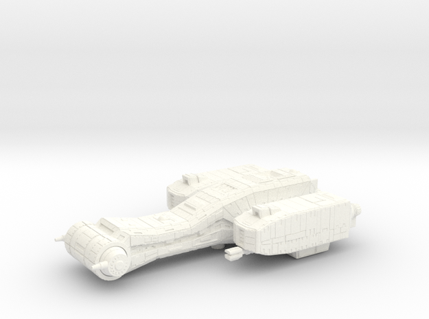 Dragonfly Gunboat in White Processed Versatile Plastic