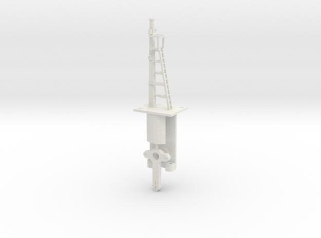 Signal 16 Ft Post HO NSWGR Lower Quadrant in White Natural Versatile Plastic