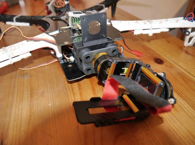 Gimbal TBS Discovery support 3d printed