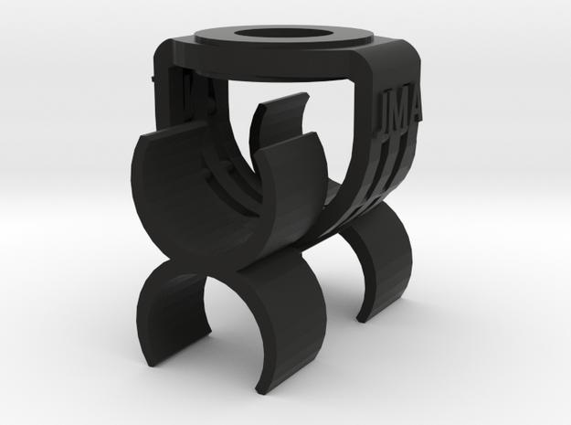 MS Stereo 22mm Mic Clip in Black Natural Versatile Plastic