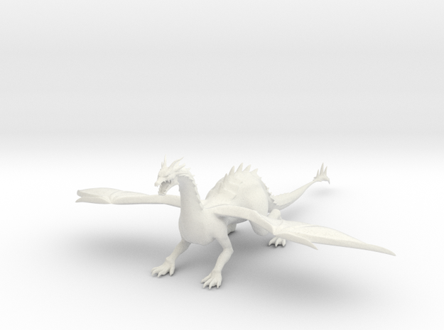 Plated Dragon-1 in White Natural Versatile Plastic
