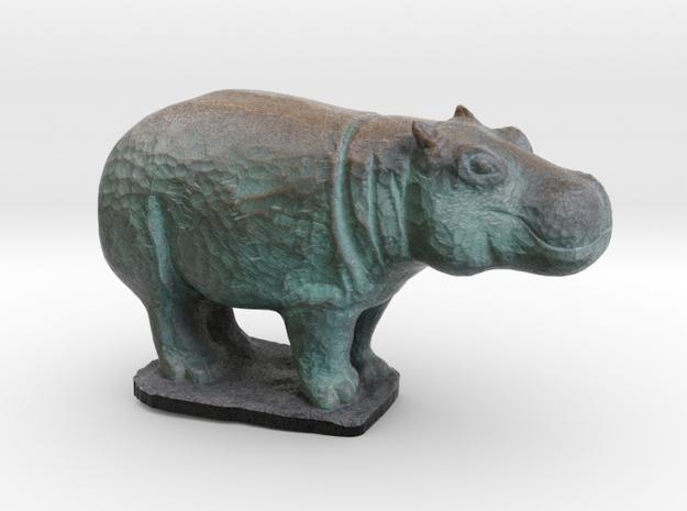 Rhinoceros in Full Color Sandstone