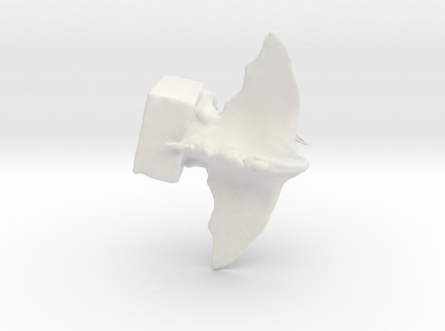 Gargoyle sculpture by T.J. Nobile in White Strong & Flexible