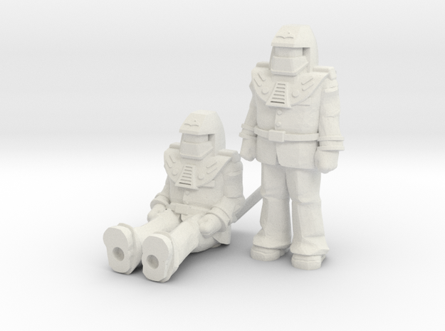 Miles Mayhem 2-pack, 35mm Minis in White Natural Versatile Plastic