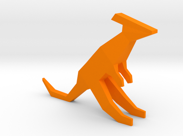 Low-poly Kangaroo in Orange Strong & Flexible Polished