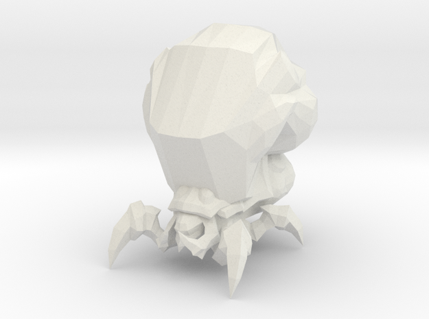 1/60 Zerg Baneling in White Natural Versatile Plastic