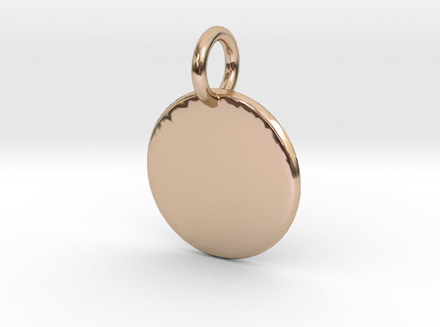 Cannivest Round Label Templete in 14k Rose Gold Plated Brass