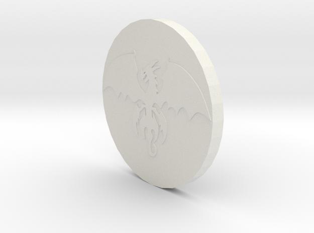 Dragon Coin in White Strong & Flexible