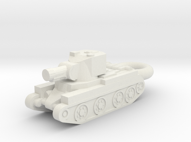 BT-42 Assault Gun KEYCHAIN in White Natural Versatile Plastic