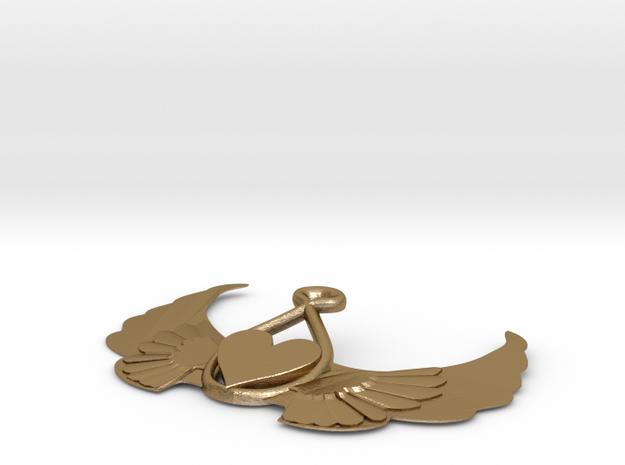 Heart-on-wings-1 in Polished Gold Steel