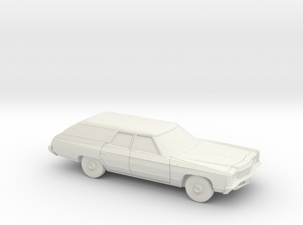 1/64 1971 Chevrolet Impala Kingswood Station Wagon in White Natural Versatile Plastic