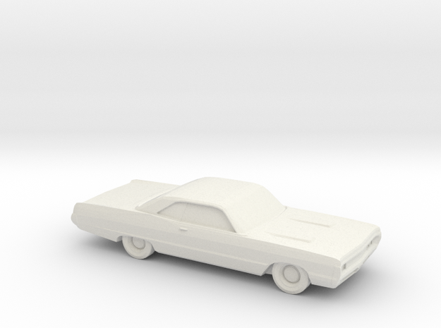 1/64 1970 Plymouth Fury Coupe in White Natural Versatile Plastic