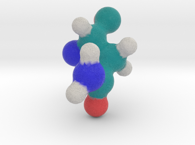 Amino Acid: Asparagine in Full Color Sandstone