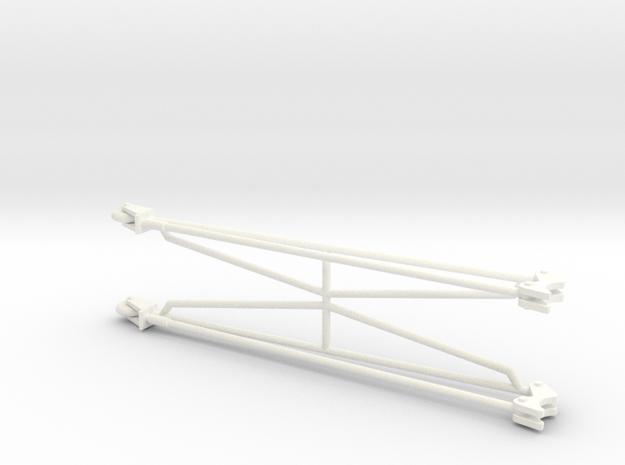 Wheelie Bars 1/8 in White Processed Versatile Plastic