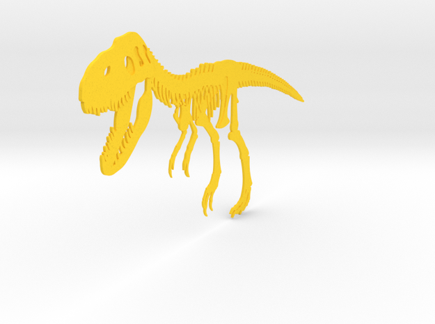 T-Rex in Yellow Processed Versatile Plastic
