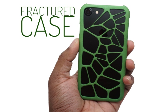 Fractured Case (Voronoi Case for iPhone 7) in Green Processed Versatile Plastic
