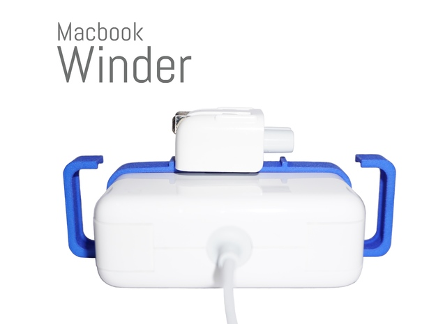 Macbook Winder 85 (Cord Wrap for 85W Adapters) in Blue Processed Versatile Plastic