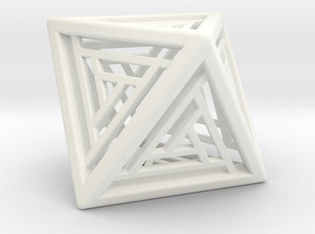 Octahedron Lattice in White Strong & Flexible Polished