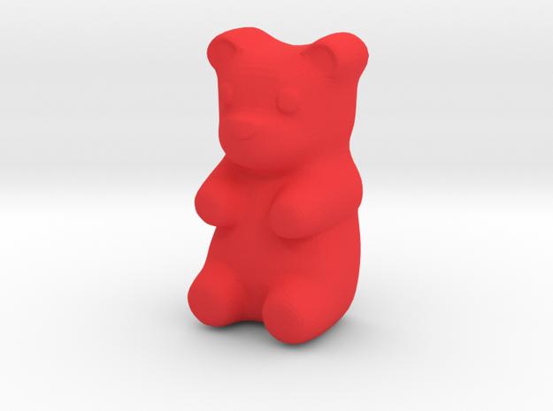 Gummy Bear in Red Processed Versatile Plastic