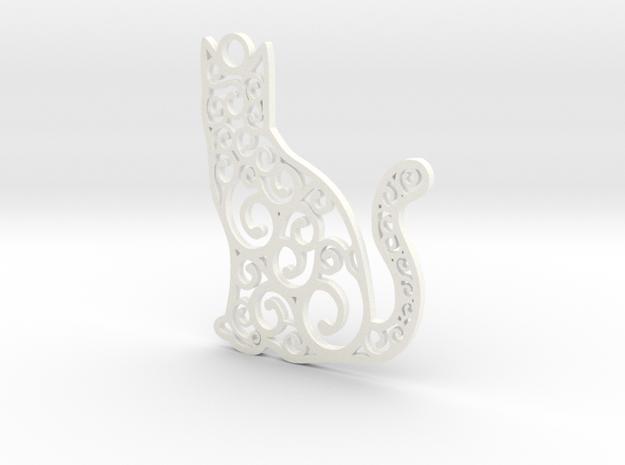 CatArt in White Processed Versatile Plastic