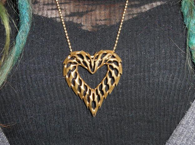 Heart 01 Brass Ready 3d printed
