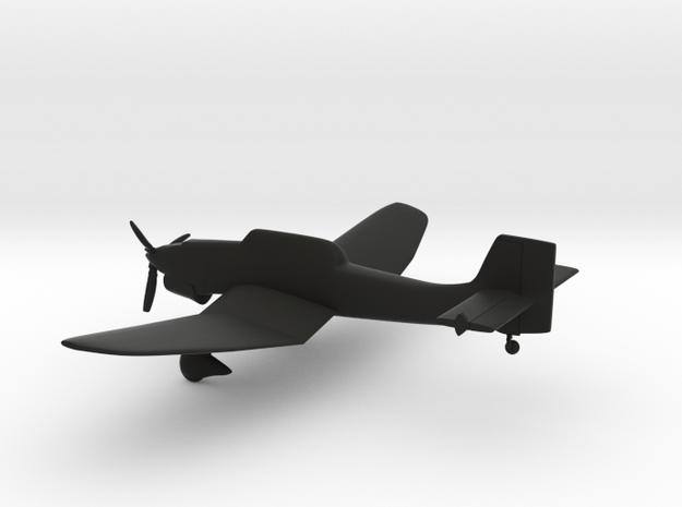 Junkers Ju-87 Stuka in Black Natural Versatile Plastic: 1:144