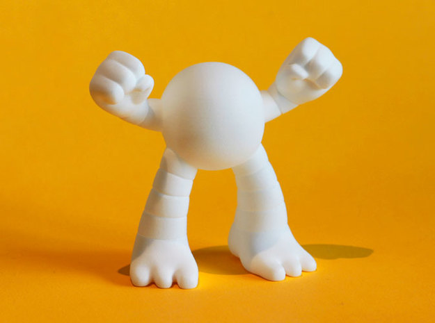 Large Power Ape in White Processed Versatile Plastic