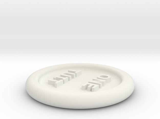 Round Tuit in White Natural Versatile Plastic