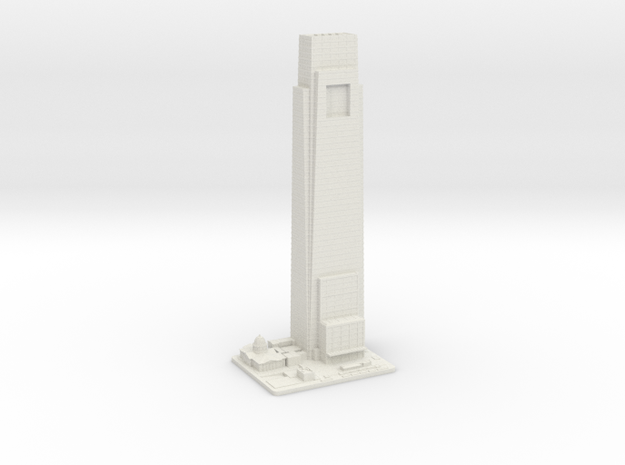 Comcast Center (1:2000) in White Strong & Flexible
