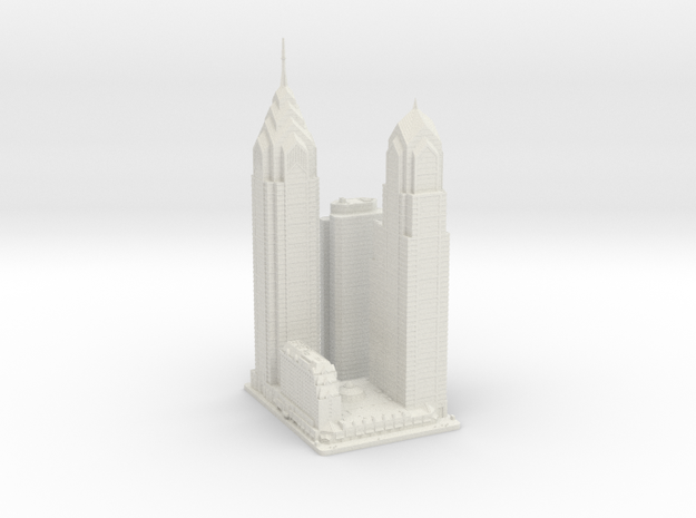 Liberty Place (1:2000) in White Natural Versatile Plastic