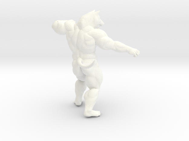 Fighting Wolf in White Strong & Flexible Polished