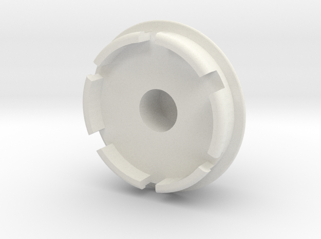 1:10 Cherokee XJ Wagoneer Wheel Hub in White Natural Versatile Plastic