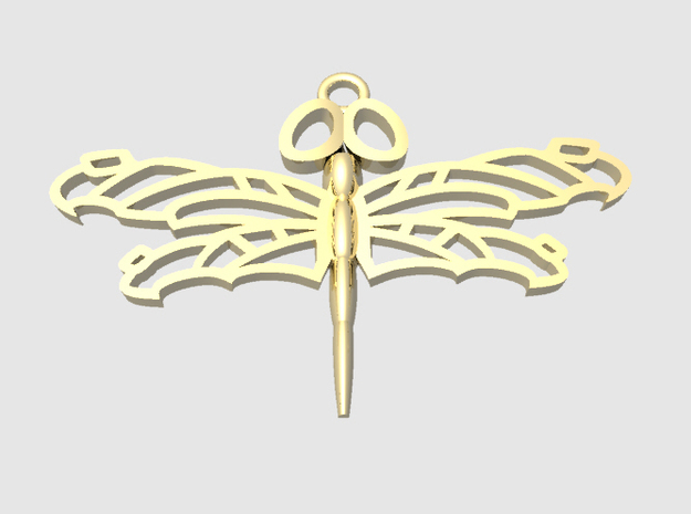Dragonfly6 in Polished Bronze