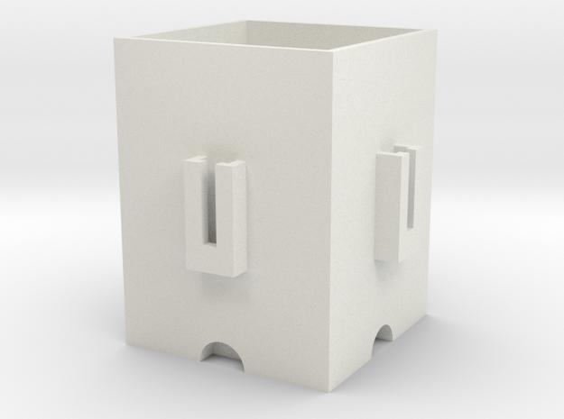 Interconnectable pot in White Natural Versatile Plastic