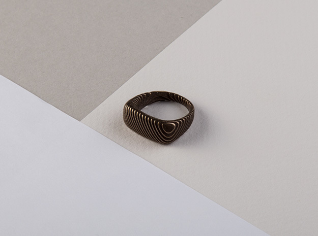 archetype - signature ring in Matte Black Steel: 6.25 / 52.125