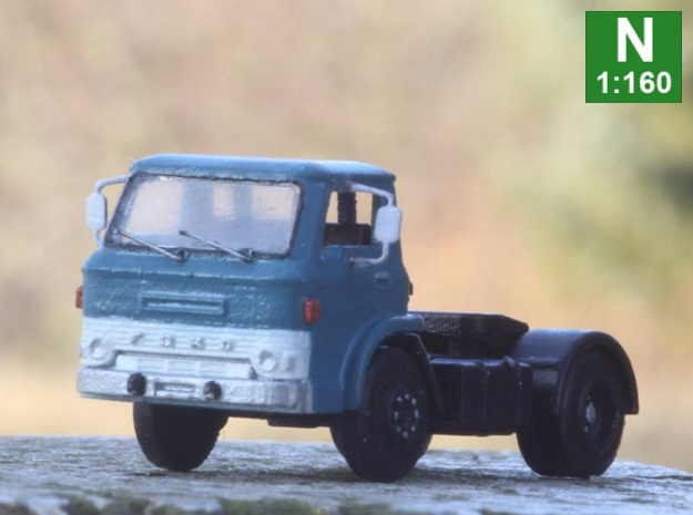 Ford D series tractor truck N scale in Frosted Extreme Detail: 1:160 - N
