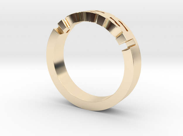 Resist Ring in 14k Gold Plated