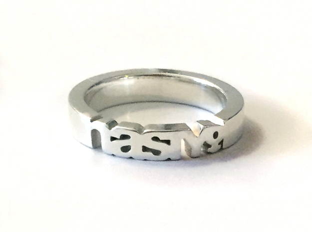 Nasty Woman Ring in Polished Silver in Polished Silver: 7 / 54